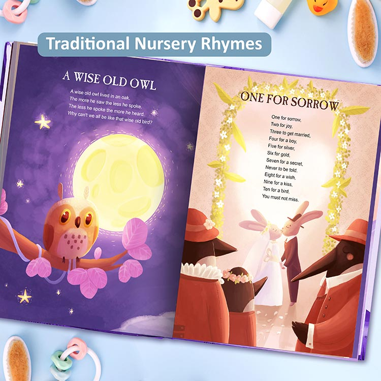 Nursery Rhymes And Personalised Lullabies Book