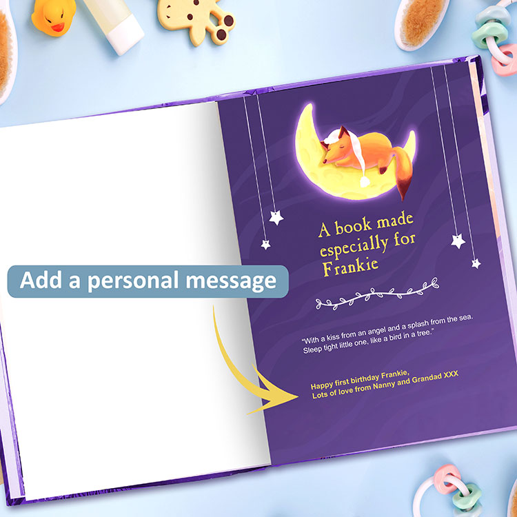 Lullabies Personalised Book with Personal Message and Nursery Rhymes