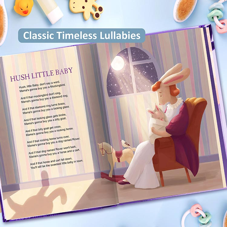 Lullabies Book Customised for Children.