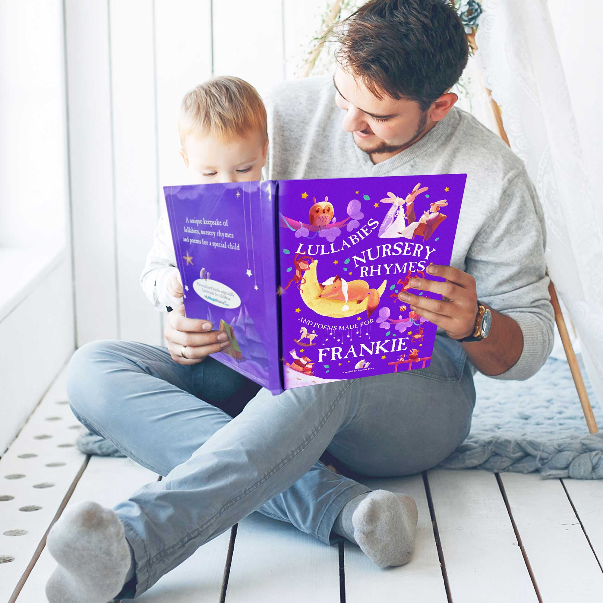 Personalised Nursery Rhymes and Lullabies Book Luxury