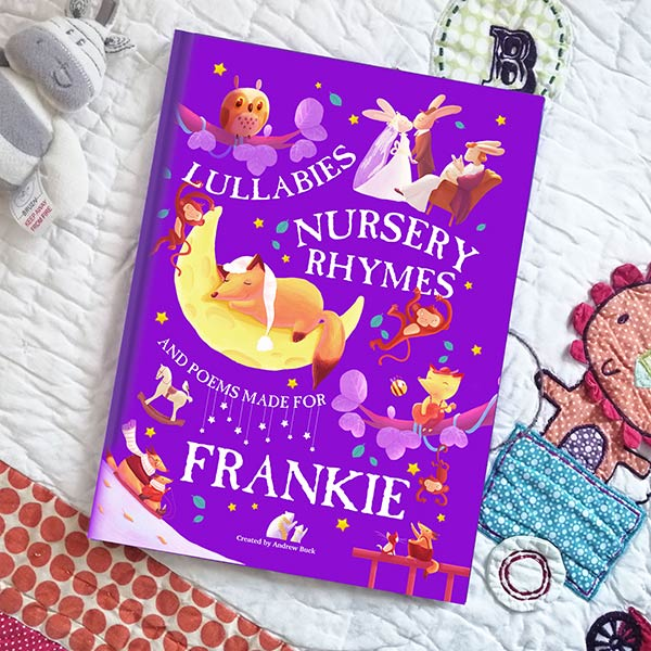 Personalised Nursery Rhymes and Lullabies Book for baby