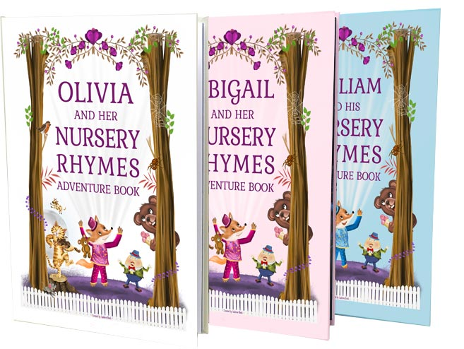 Nursery Rhymes Poems Book Personalised for Children