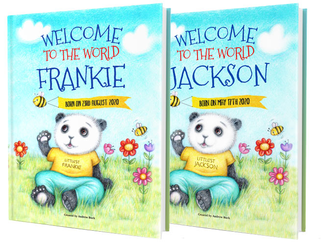 Personalised Welcome To The World Bok for Baby and New Parents