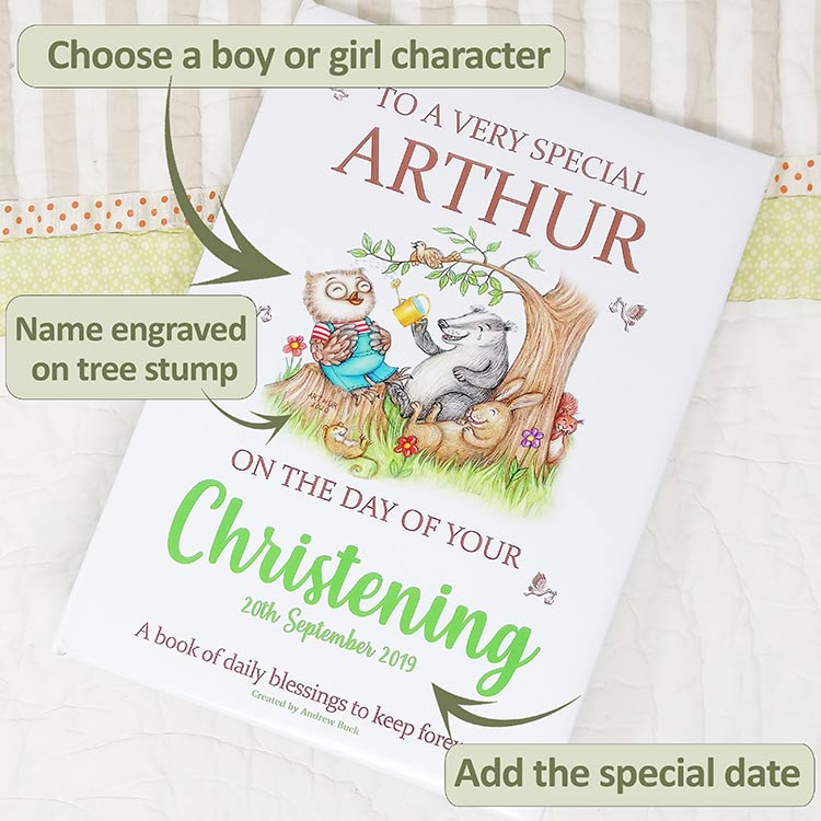 My Magic Name Christening Blessings Gift Book for Special Occasions