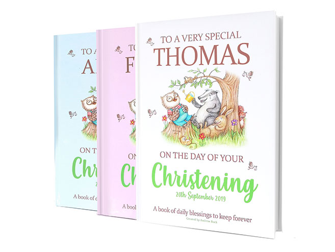 Personalised Christening Day Gift Book of Blessings