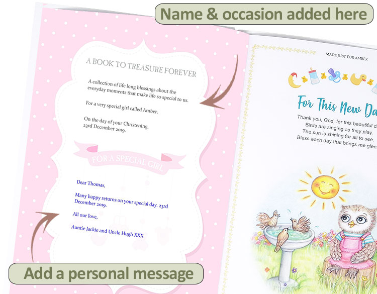 Christening Gifts for Toddlers and Newborns Personalised