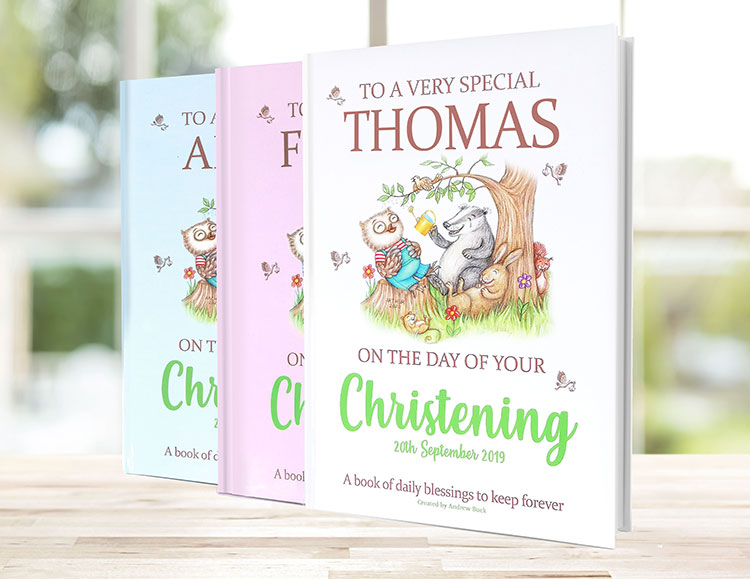 Personalised Christening Gift Book of Blessings