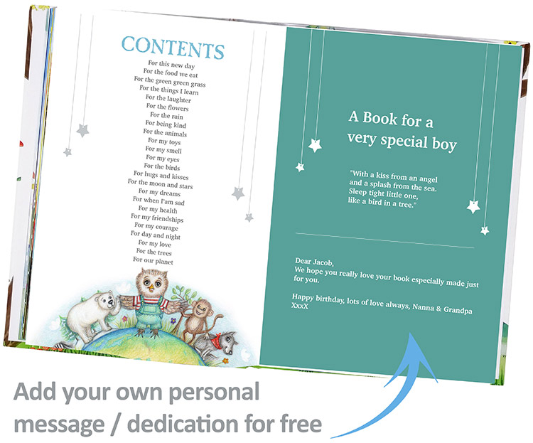 Personalised bible blessings Book for Children