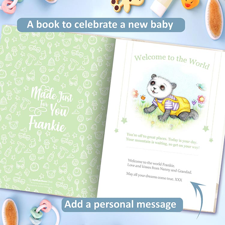 Welcome to the world book for children, newborns and toddlers