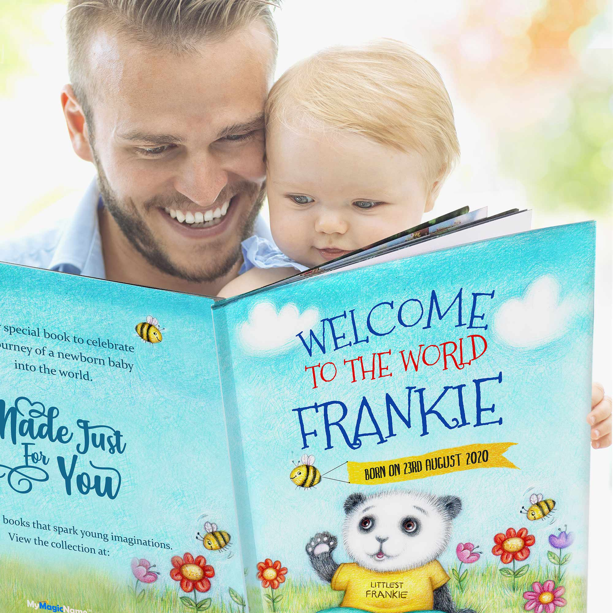 Personalised Welcome To The World Book